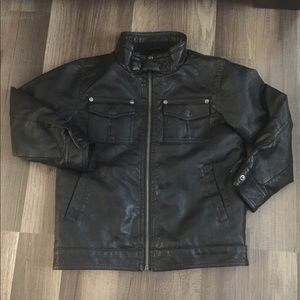 Boys faux leather  jacket  S/M NWOT